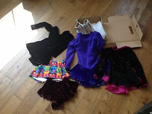 Wonderful figure skates and outfits for sale $50