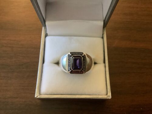 CARNEGIE MELLON UNIVERSITY PITTSBURGH Sterling Silver Class Ring 10 1/2