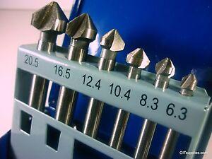 6PC-HSS-90-COUNTER-SINK-BITS-METAL-PLUMBING-DRILLING-DRILL-BIT-COUNTERSINK