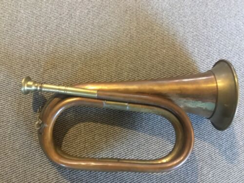Vintage Copper and Brass Bugle Horn app 11 inches