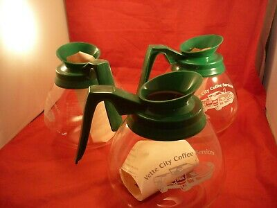 3 Commercial Coffee Pots Decanter Replacement Carafe Bunn Germany Green Corvette