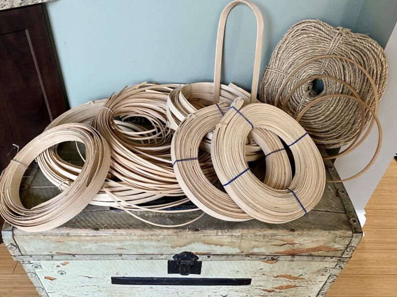 Lot Basket Making Supplies