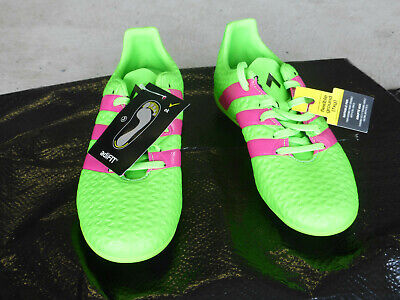 NWT, Addidas Youth Soccer Shoes, ACE 16.4 FxG J, Green, Kid Size 12, AF5034