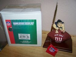 NEW YORK GIANTS NFL TEAM SPIRIT DESK SET WITH CLOCK  - NEW IN BOX