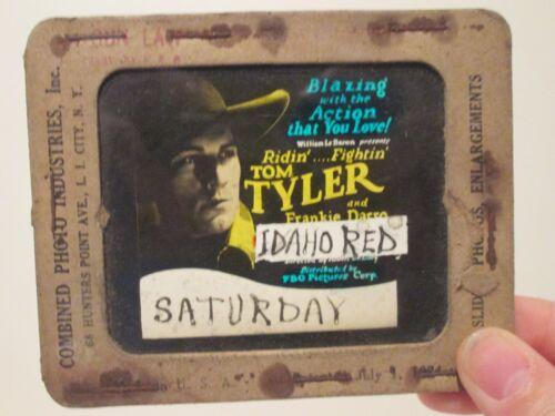 Idaho Red   - Original 1929  Movie Glass Slide - Tom Tyler