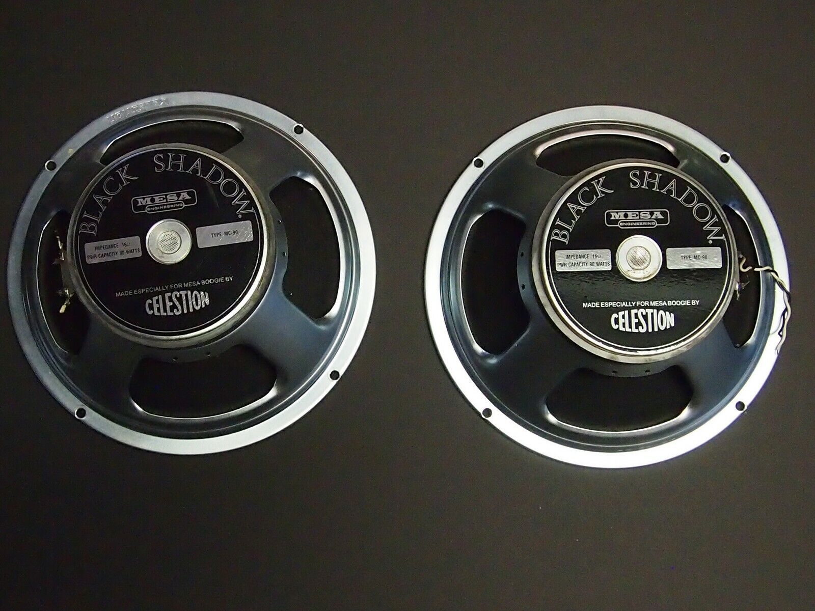 """2 12"""" Celestion Black Shadow Amp Speakers from Mesa Lonestar Special"""