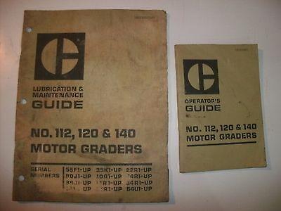 Motor Grader Cat Caterpillar Operators Guide Lubrication Maintenance 112 120 140