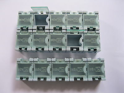 100 Pcs Blue Smd Smt Electronic Component Mini Storage Box
