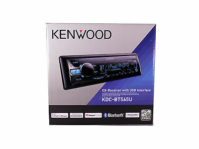 Kenwood KDCBT565U CD Single DIN In-Dash Bluetooth Car Stereo Receiver, New