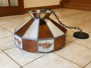 Vintage Stained Glass Tiffany Lamp