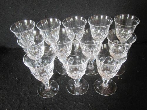 SET 12 ORREFORS CRYSTAL PORT SHERRY WINE GLASSES PAT #ORR10 HONEYCOMB SIGNED