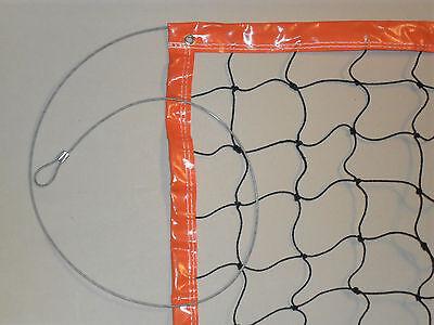 Hochwertiges Beach-Volleyballnetz 3mm PE  8,5 x1m mit Stahlseil