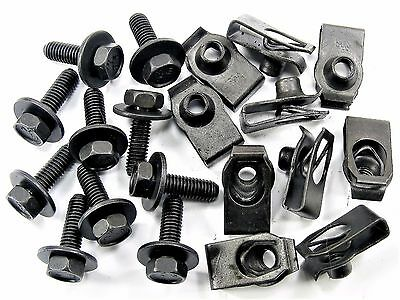 Body Bolts & U-Nuts For Nissan- M6-1.0mm x 20mm Long- 10mm Hex- Qty.10 ea.- #150
