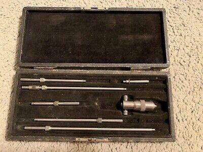 Rare Vintage L.s. Starrett Co. Depth Micrometer Gage Made In U.s.a. Nice