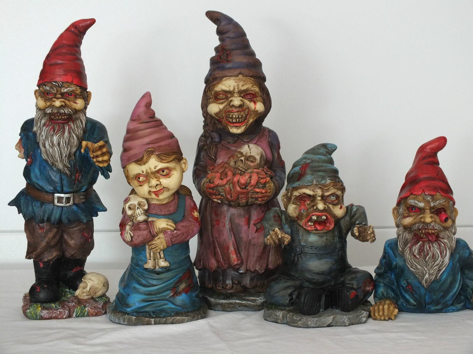 gartenzwerg,horror,zombie,5 varianten,dwarf,garden,außen,draußen,gnom.grusel