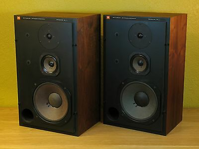 Vintage JBL L110 3-way walnut speakers in nice restored condition!
