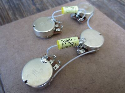 Les Paul Pre-Wired Wiring Harness Kit | Bourns 500 kΩ Pots, SoZo Yellow Mustard ()