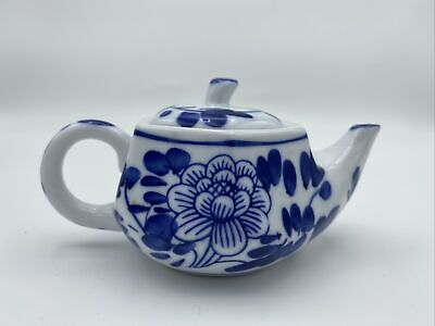 Vintage Blue Lustreware Teapot with White Cameo Pearl Blue Tone Teapot Wedgewood Style Teapot Cottage Style Chic Teapot