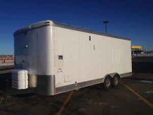 2009 23' heated sleeping utility trailer