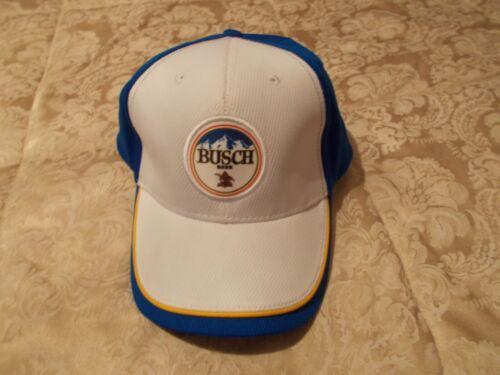 BUSCH BEER, RACING, ADJUSTABLE STRAP BASEBALL CAP