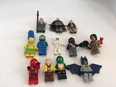 Lego Mini Figure Lot of 12 ~ Batman Marge Simpson Ninjago