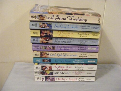 Lot of 10 ZEBRA REGENCY ROMANCES - 9 novels and 1 anthology pbs - FREE SHIP