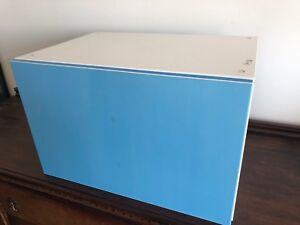 IKEA besta cabinet with white glossy door