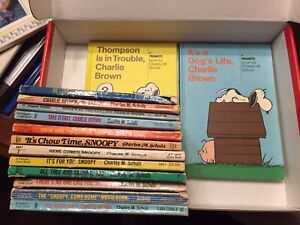 Lot of Charlie Brown Books.