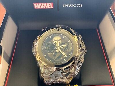 Marvel Invicta PUNISHER Zeus Bolt Mens Watch 52mm Limited Edition Swiss