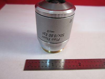 Microscope Objective Leica Fluor 50x Polycon Epi Infinity Optics Bin11-dt-c