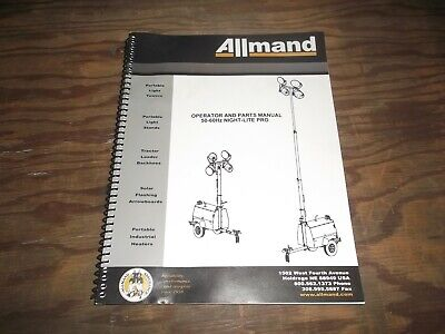 Allmand 50hz 60hz Night-lite Pro Owner Operator Parts Catalog Manual