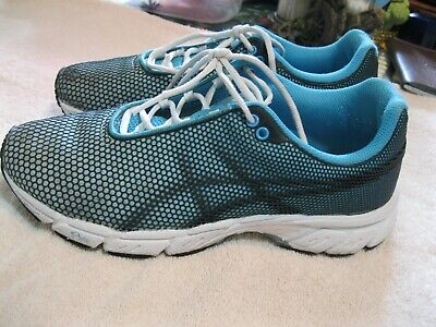 LADIES AASICS BLUE WITH BLACk MESH ATHLETIC SHOES SIZE 6.5M