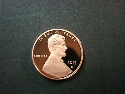 2016-S PROOF RED GEM LINCOLN SHEILD CENT ULTRA CAMEO SPOT-FREE FINISH NICE COIN