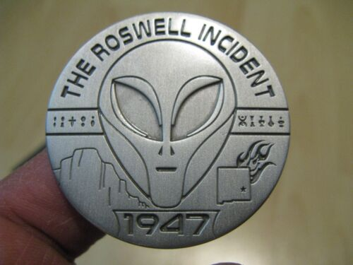 Collectible 1947 UFO Roswell Incident Heavy Metal Medallion - Low Mintage 500