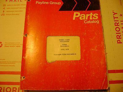 International Parts Manual H-400c Pay Loader H- 400c