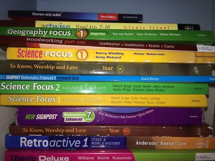 High School Textbooks Gladesville Ryde Area Preview
