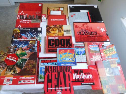 MARLBORO EPHEMERA catalogs contest cookbook matchbook calendar mile saver vtg #1