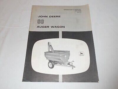 John Deere 68 Auger Wagon Operators Manual With Photos