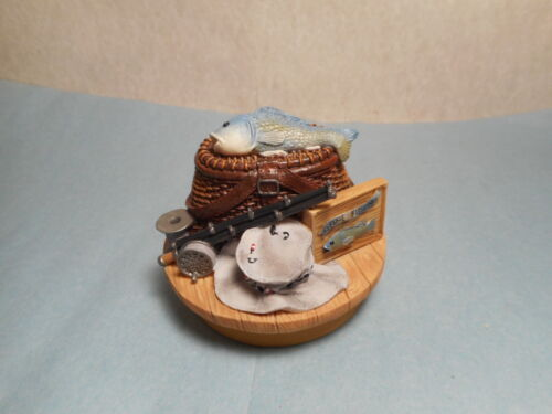 Gone Fishing Candle Topper   Our America    NEW