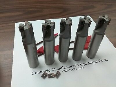 5pcs 90 Degree Indexable End Mill 34x3-12 3 Inserts Sandvik R390 506-sdvk