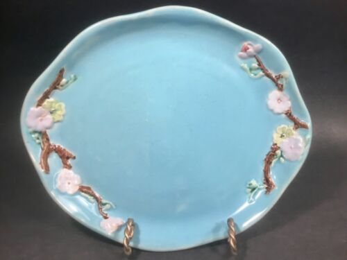 Antique Tray or Platter by Holdcroft Flowers on Branches  c.1800