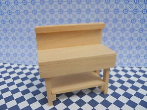 WOODWORK BENCH  IN 1/24 SCALE. HANDMADE FOR MINIATURE DOLLSHOUSE SHED