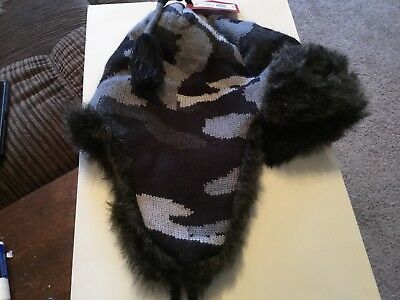 16dafcac3d8 NWT OSFM Men Mossimo Trapper Bomber Aviator Faux Fur Winter Hat w Earflaps  WARM