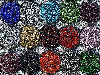 Loose Rhinestones lot of Hot Fix Iron on 3mm (SS10), 22 Colors to choose -