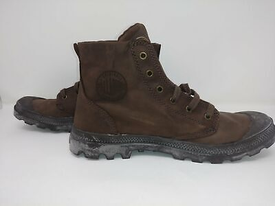 Palladium Pampa Hi Leather Men's Chocolate Lace Up Ankle Combat Boots
