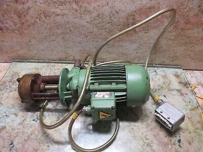 American Way Lathe Aw100 Induction Motor Vde 0530 Brinkmann Pumpen Coolant Pump