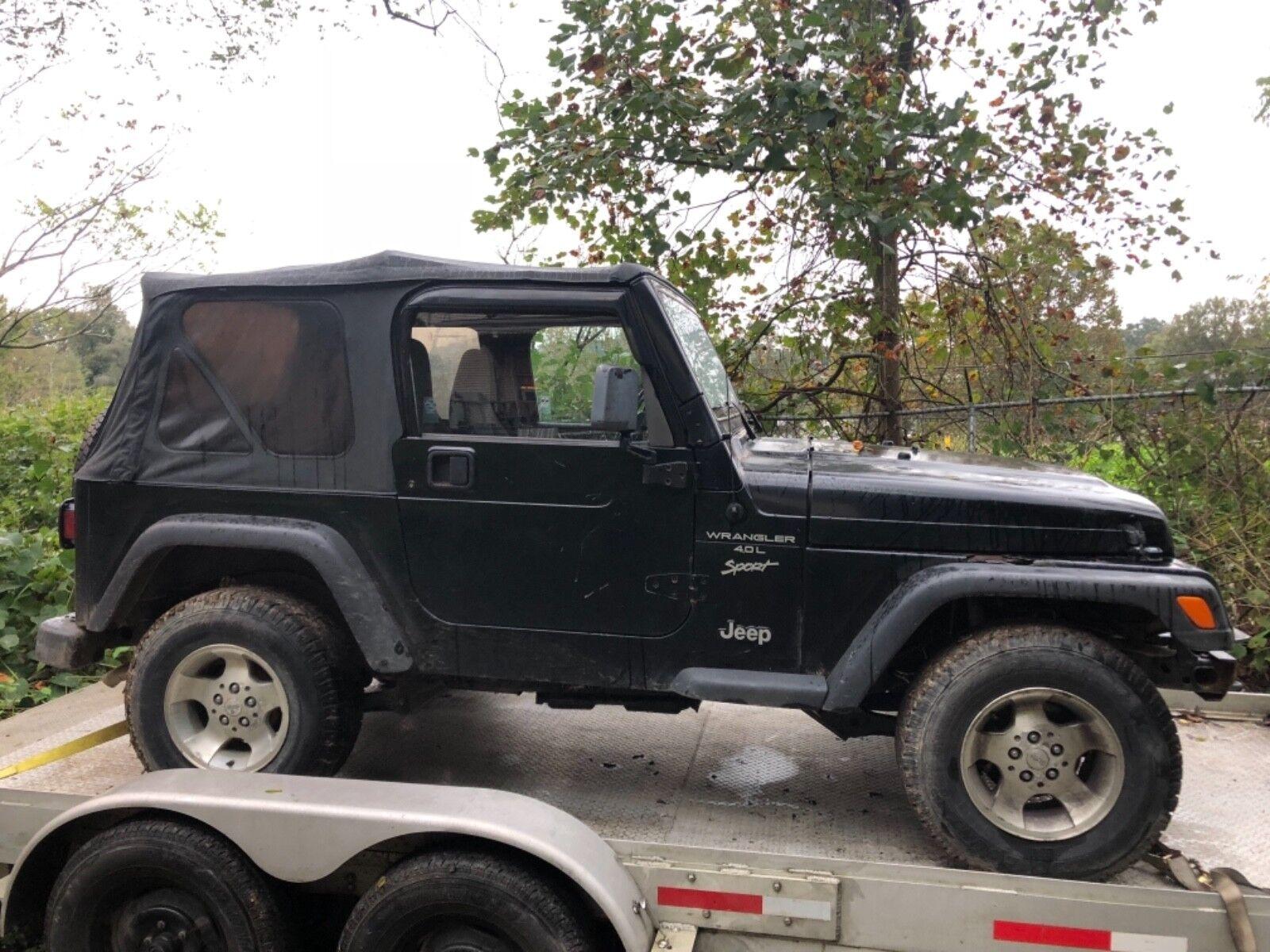 2000 Jeep Wrangler Sport 2000 Jeep Wrangler Sport Black Only 101K Miles Auto 4x4 TJ 4.0L Needs TLC Look