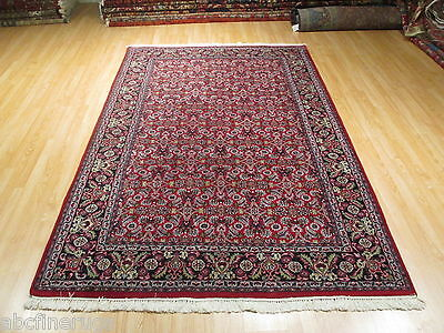 6x9 Mahi Herati Intricate Allover-Pattern Handmade-knotted Wool Rug 582070