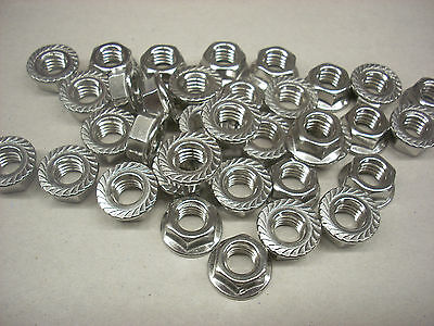 Hex Nuts 38-16 Non-magnetic Stainless Steel Flanged Lot Of 100