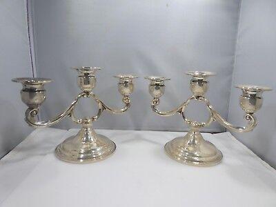 Candlesticks Candelabra Silver Candelabra Pair 2